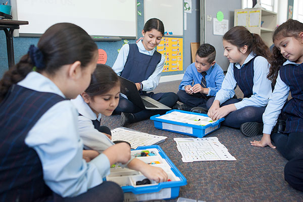 St Josephs Catholic Primary School Belmore - students creating letter for Christchurch